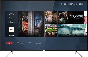 TCL 50DP600 - Televisor de 126 cm (50 Pulgadas), Smart TV con UHD 4K, LED, Color Negro [Clase de eficiencia energética A+]: Amazon.es: Electrónica