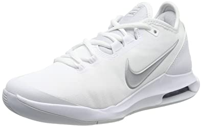 9ecf93254d42f Nike Women's Air Max Wildcard Tennis Shoes (5 B US, White/Metallic Silver