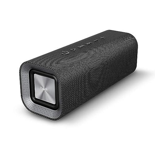HAVIT V4.2 Enceinte Bluetooth Portable Puissante, Haut Parleur Bluetooth pour Bluetooth, Entrée Filaire, Carte TF -Noir