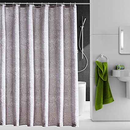 Amazon Riverbyland Shower Curtains Water Drop Grey 72 X 80