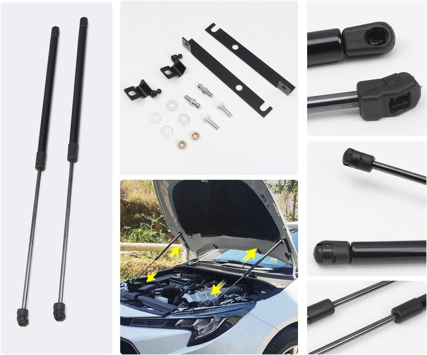 RUIYA per Corolla E210 2019 2020 Asta Idraulica 2 Pezzi Realizzato in plastica ABS e lega resistente allo zinco Cappe Molla a Gas Cappa Idraulica
