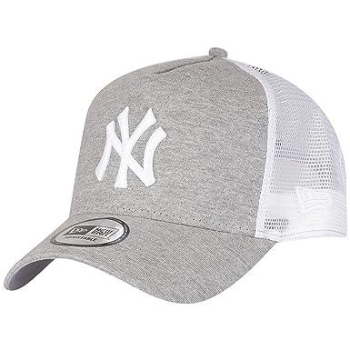 e15862445b1a New Era Jersey Essential York Yankees Gray Optic White Cap 9 Forty Trucker  Herren, Grey, FR  Einheitsgröße (Größe Hersteller  Futterbeutel Leckerli)  Black ...