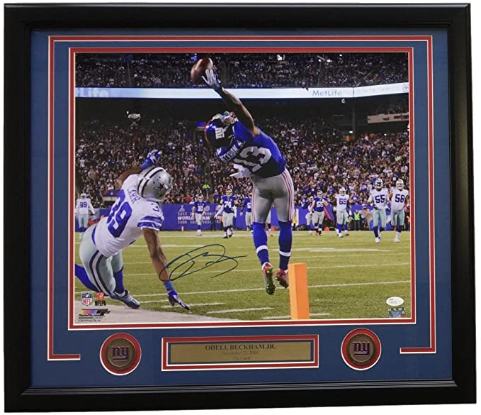 97a234084 Odell Beckham Jr. Signed Framed New York Giants The Catch 16x20 Photo JSA  at Amazon's Sports Collectibles Store