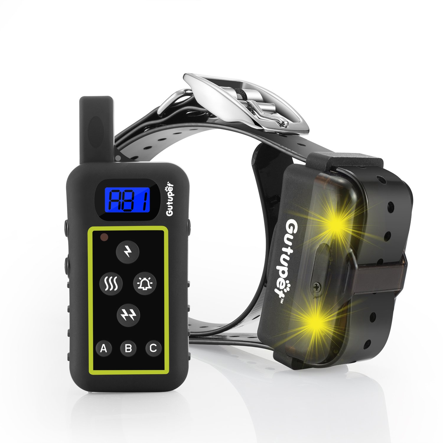 Dog Training Collar with Remote, Gutupet 2000 Yards Range Dog Shock Collar for Large Dogs with LED Feature, Waterproof Electric Collar, Anti Bark Collar - Dogs Over 10 lbs