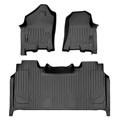 MAX LINER A0369/B0374 for 2020 2020 2021 Ram 1500 Crew Cab with Rear Underseat Storage Box, Black: Automotive