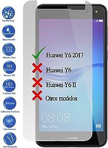 Todotumovil Protector de Pantalla Huawei Y6 2017 de Cristal Templado Vidrio 9H para movil