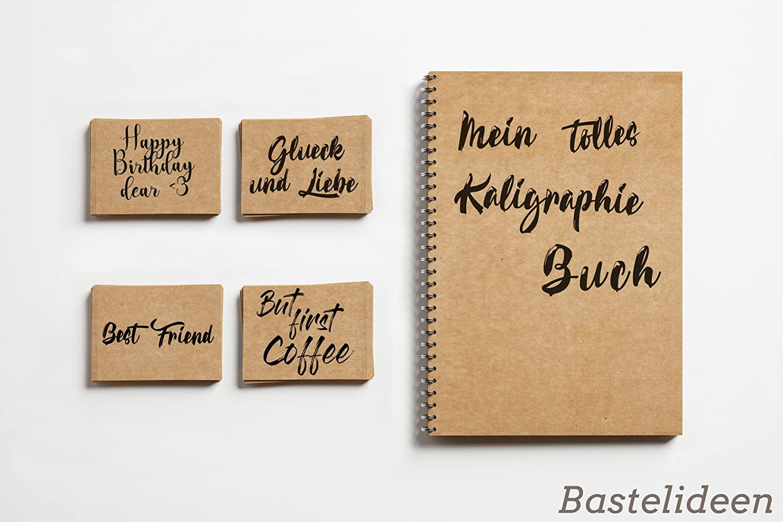cart/ón natural regalos y etiquetas papel de cart/ón vintage para boda Papel de manualidades 21 x 29,7 cm hojas de cart/ón 150 hojas Premium Papel de Estraza DIN A4 de 180 g