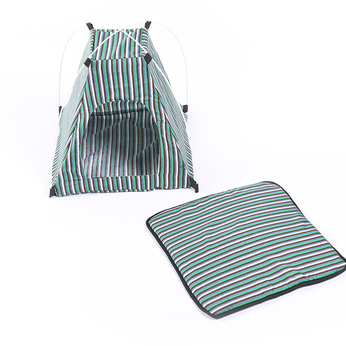 UEETEK Cat Dog Puppy Tent Indoor Outdoor Breathable Sun Shelter House for Pets (Green)
