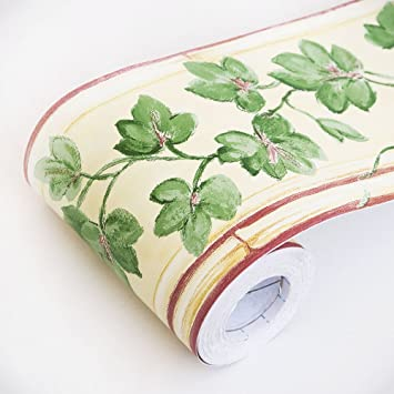 Spring Vines   Self Adhesive Wallpaper Borders Home Decor(Roll)