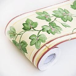 amazon com blancho wallpaper border storesspring vines self adhesive wallpaper borders home decor(roll)