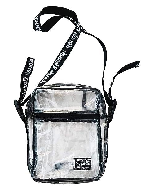 Amazon Com Rough Enough Clear Transparent Fashion Comestic Handbag 76c1f6f6af60f