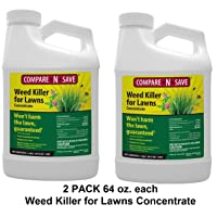 Compare-N-Save Concentrate Weed Killer for Lawns 64 Ounces per Bottle (2 Pack) Treats...