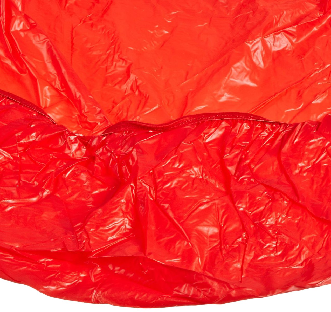 Kwik-Cover 48UM-R 48'' Round UMBRELLA Kwik-Cover- Red Fitted Table Cover (1 full case of 100)