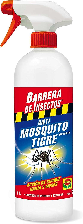 Compo Repelente Barrera de Insectos Insecticida para Mosquito Tigre, Acción de Choque hasta 3 Meses, para Interior y Exterior, 1 L
