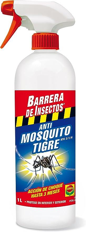 Compo Repelente Barrera de Insectos Insecticida para Mosquito Tigre, Acción de Choque hasta 3 Meses, para Interior y Exterior, 1 L: Amazon.es: Jardín