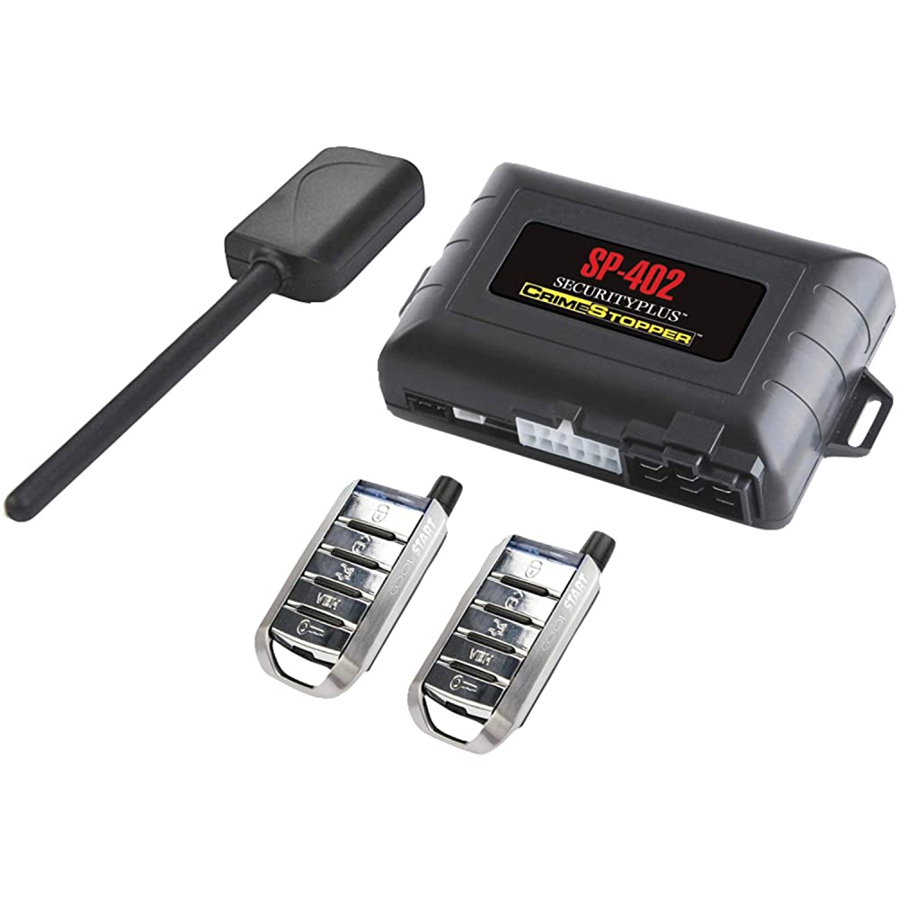 10. Crimestopper SP-402 Car Alarm with Remote Start, Keyless Entry and Engine Disable