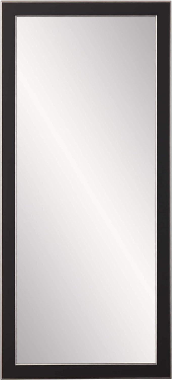 Black 21.5 X 32 BrandtWorks AV11SMALL Modern Twist Vanity Wall Mirror