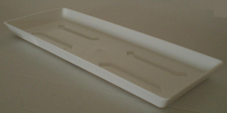 Sottovaso per fioriera da balcone in plastica 100/cm di colore bianco