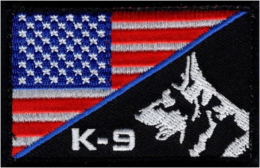 K-9 fina línea azul de bandera de Estados Unidos American Policía SWAT moral parche de cierre de gancho (pk-1 a): Amazon.es: Juguetes y juegos