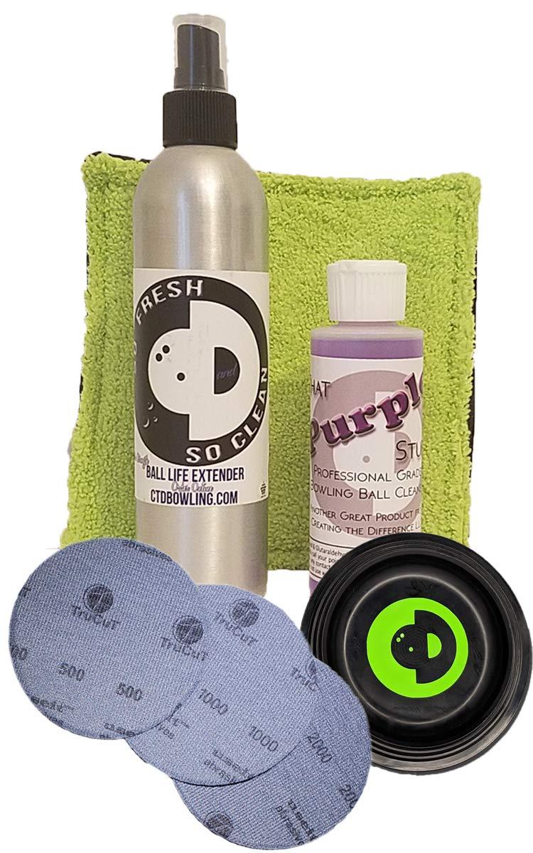 作成異なるのサーフェス管理キット|ボーリングボールメンテナンスキット|パープルStuff | So Fresh & So Clean | use-it by CTD研磨パッド B07D8DZYVK
