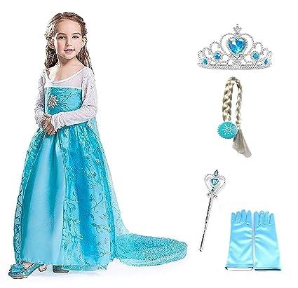 Talla 130 - 8 - 9 años - Disfraz - Traje Flor Elsa con ...