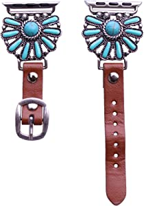40mm/38mm Compatible for Apple Watch, Delicate Western Turquoise Watch Band No. 10