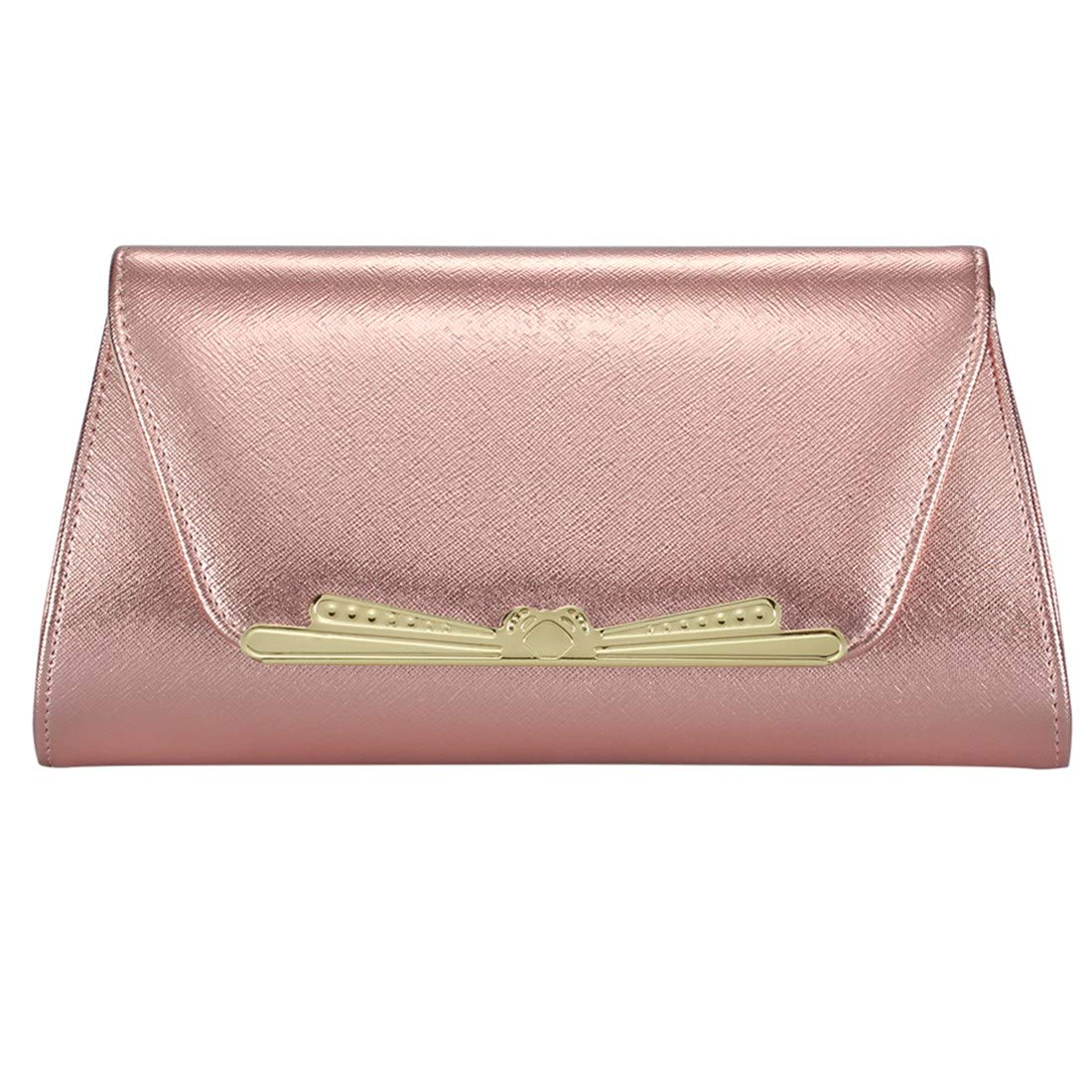 pink gold Women Evening Party Clutch Bags Handbag Crossbody Purse Lady Bag Bridal Wedding Purse