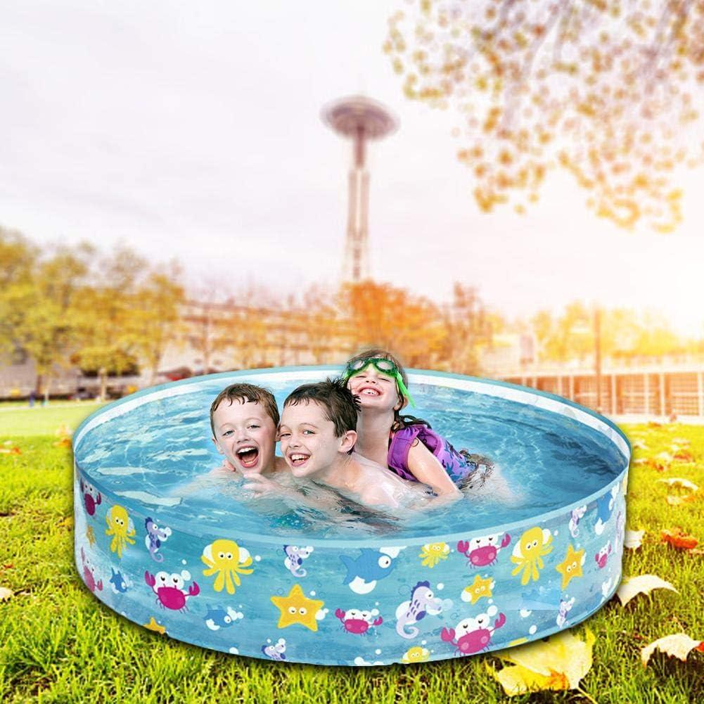 iBellete Piscina de Bolas Marinas de 122 × 25 cm/Piscina de plástico Infantil para niños Piscina Familiar Piscina de plástico Duro Piscina de Almohadilla Redonda Baño Infantil