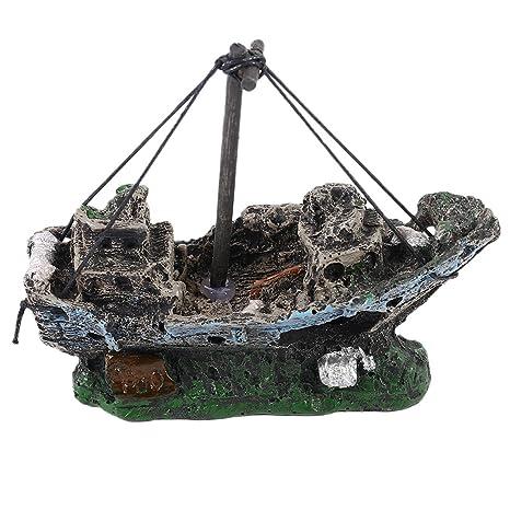 Moliies Pirate Ships In Aquariums Acuario Paisaje Decoración Accesorios para acuarios Pecera Acuario Adorno para Barcos