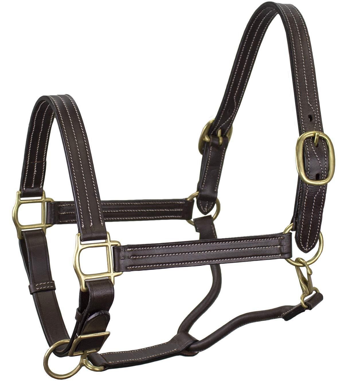 ダービーOriginals Havanaトリプルステッチレザー調節可能な馬ホルターフルHorse & COBサイズ Full Horse ハバナ B07FT7H4Z4