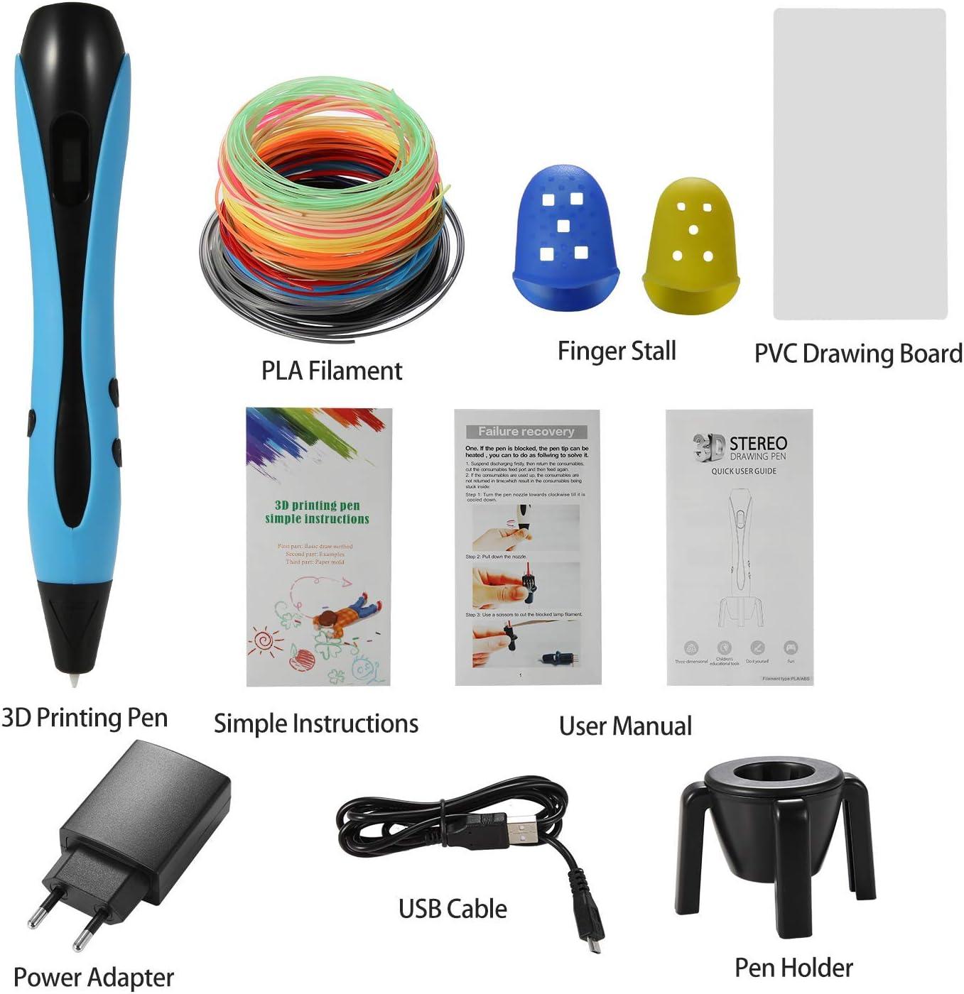 NEXGADGET Plumas 3D Impresión, 3D Pen Bolígrafo con 12 Rollo de ...