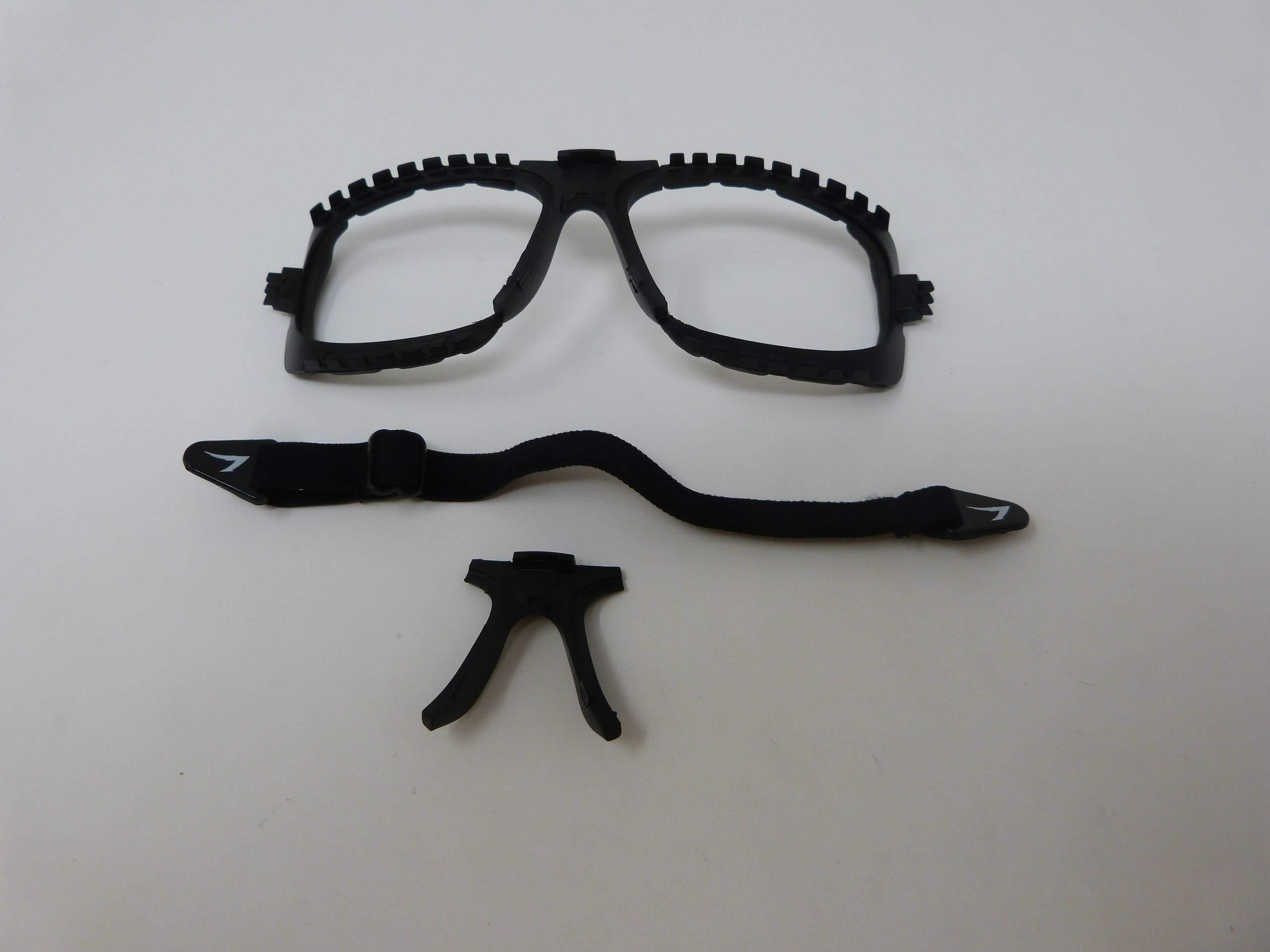 OnGuard OG 240 Rxable Safety Eyewear w/Full Dust Dam Burgundy 57mm