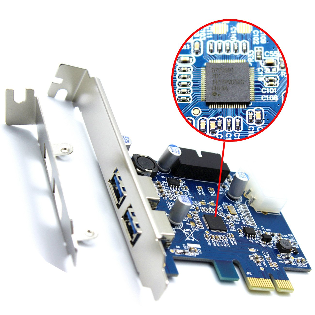 Optiaml Shop 2 Port USB 3.0 PCI Express Card,Mini PCI-E USB
