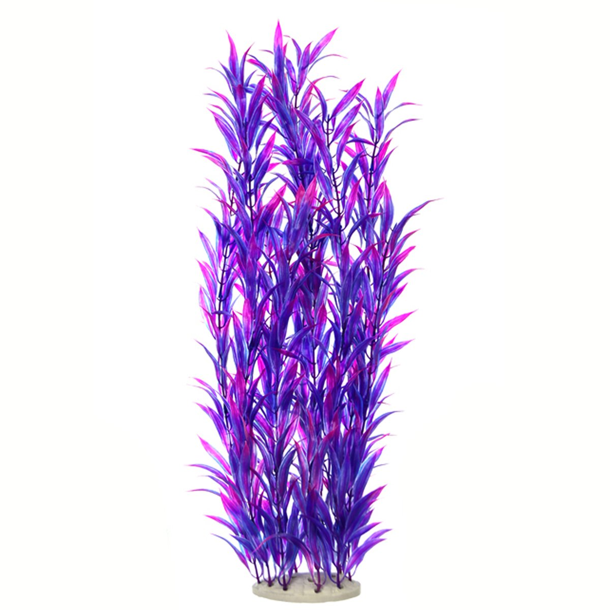 Lantian Tall Aquarium Plastic Plants Natural Fish Tank Decorations Bright Artificial Fake Plants 21 inches J002