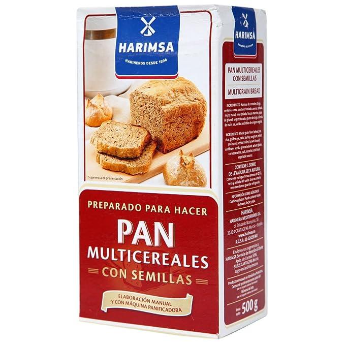 Preparado Para Hacer Pan Con Multicereales Con Semillas Harimsa 500G.