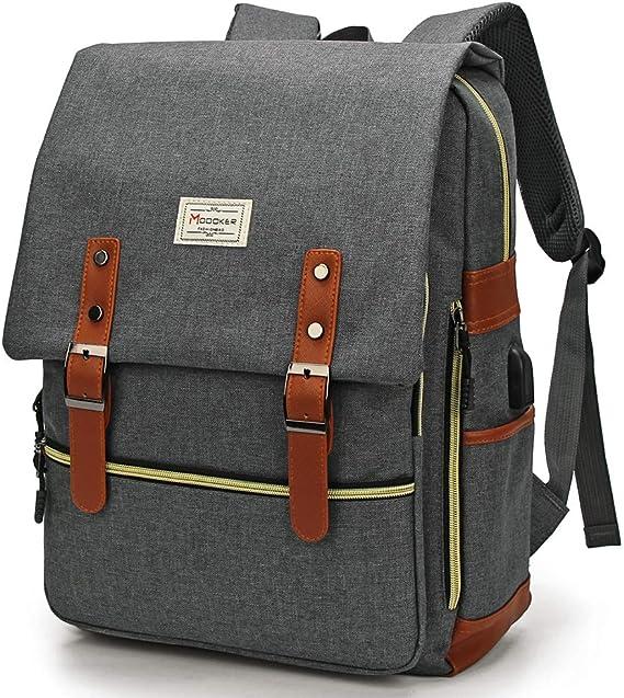 Modoker Upgraded Vintage Laptop Backpack for Women Men