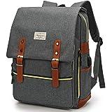 Modoker Upgraded Vintage Laptop Backpack for Women Men,School College Backpack with USB Charging Port Fashion Backpack Comput