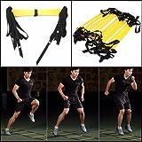 OUTERDO 12-Rung Scaletta di Formazione di Calcio /Soccer Training Ladder - Fitness Calcio Soccer 6m