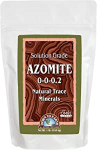 Down to Earth OMRI Organic Solution Grade Azomite 0-0-0.2, 1 lb