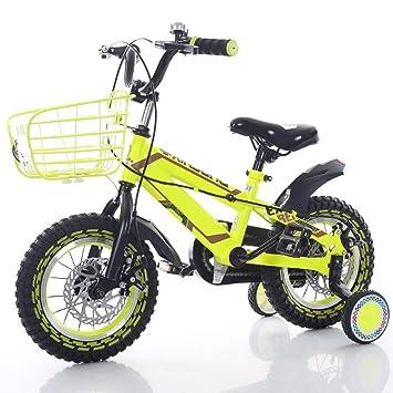 XBNH Bicicleta para Niños 2-4-6-7-8-9-10 Años Bicicleta para Niño 12/14/16/18 Pulgadas con Rueda Auxiliar (Tamaño: 18 Pulgadas): Amazon.es: Hogar