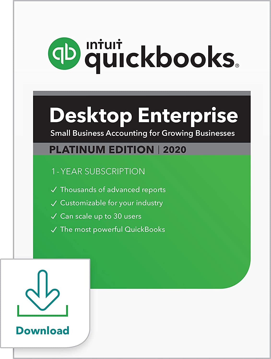 QuickBooks Desktop Enterprise Platinum 2020 Accounting Software for Business [PC Download]