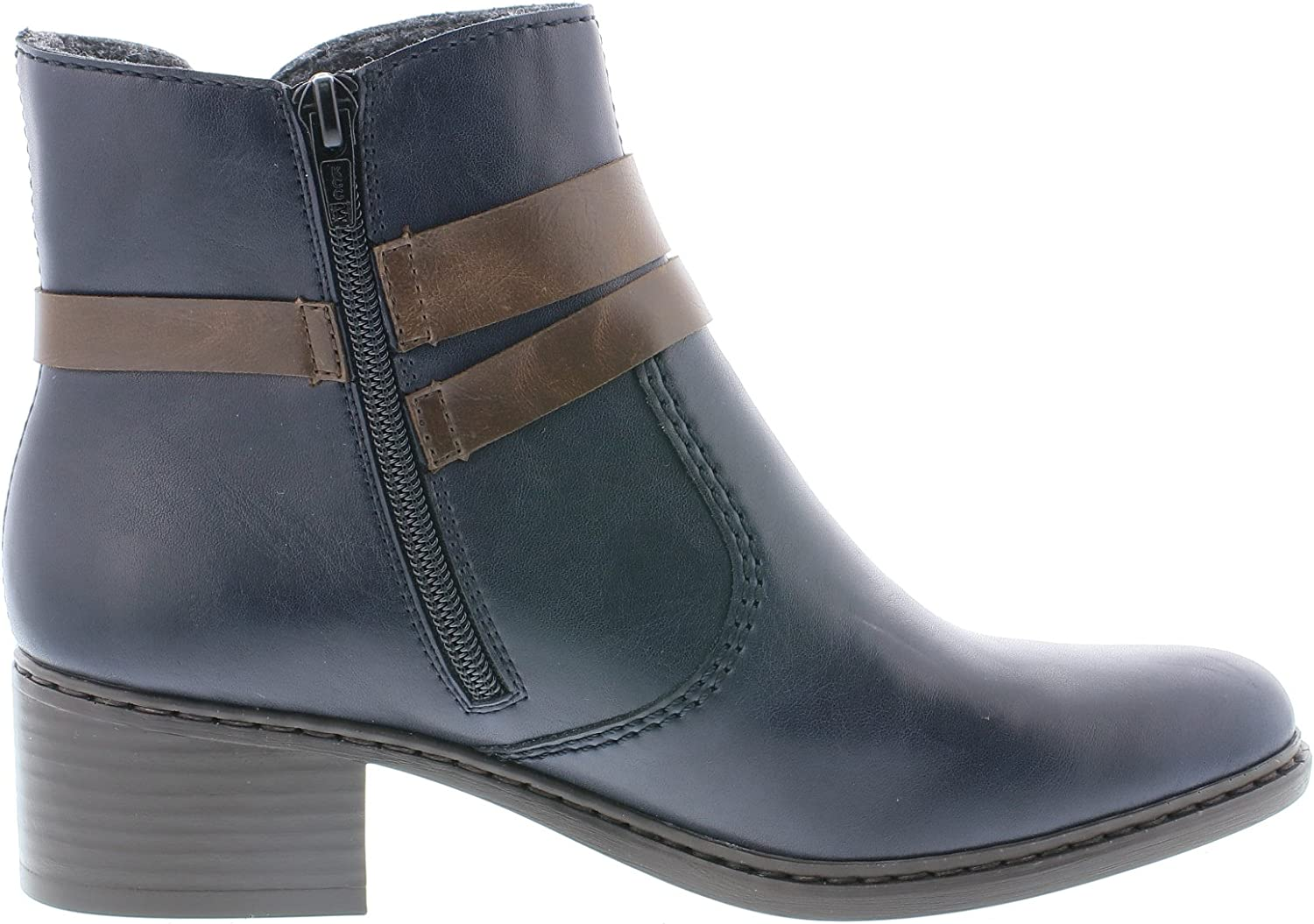 Rieker 77683 Womens Casual Ankle Boots Blu