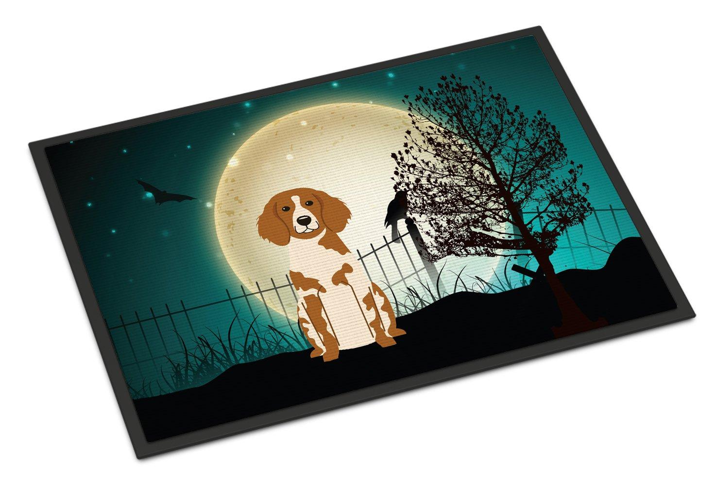 Carolines Treasures Halloween Scary Brittany Spaniel Indoor or Outdoor Mat 24x36 BB2262JMAT 24 x 36 Multicolor