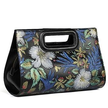 Leathario Besace en cuir véritable la première couche, sac porte épaule, sacoche portable, sac bandoulière, sac à main pour femmes,sacs peints à la main pour femmes
