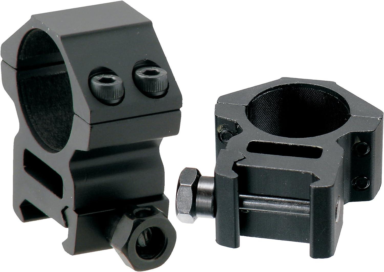 AccuShot Picatinny/Weaver Medium Profile 2-piece 1-inch Rings : Airsoft Gun Scope Mounts : Sports & Outdoors