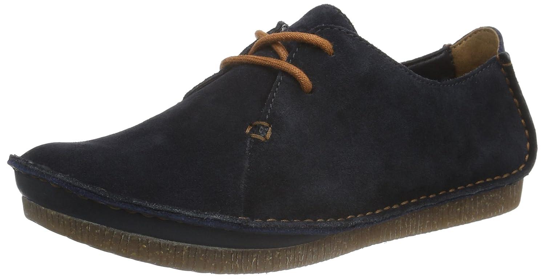 Clarks Janey Mae - Zapatos con Cordones de Cuero Mujer 40 EU|Azul (Navy Suede)