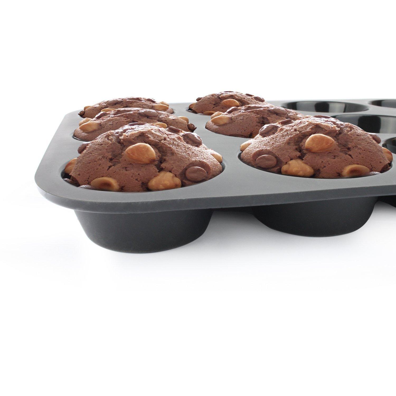 Capa/antiadherente 2 moldes para horno con 12/agujeros para cupcakes de Stonges bandeja de horno cuadrada para hornear
