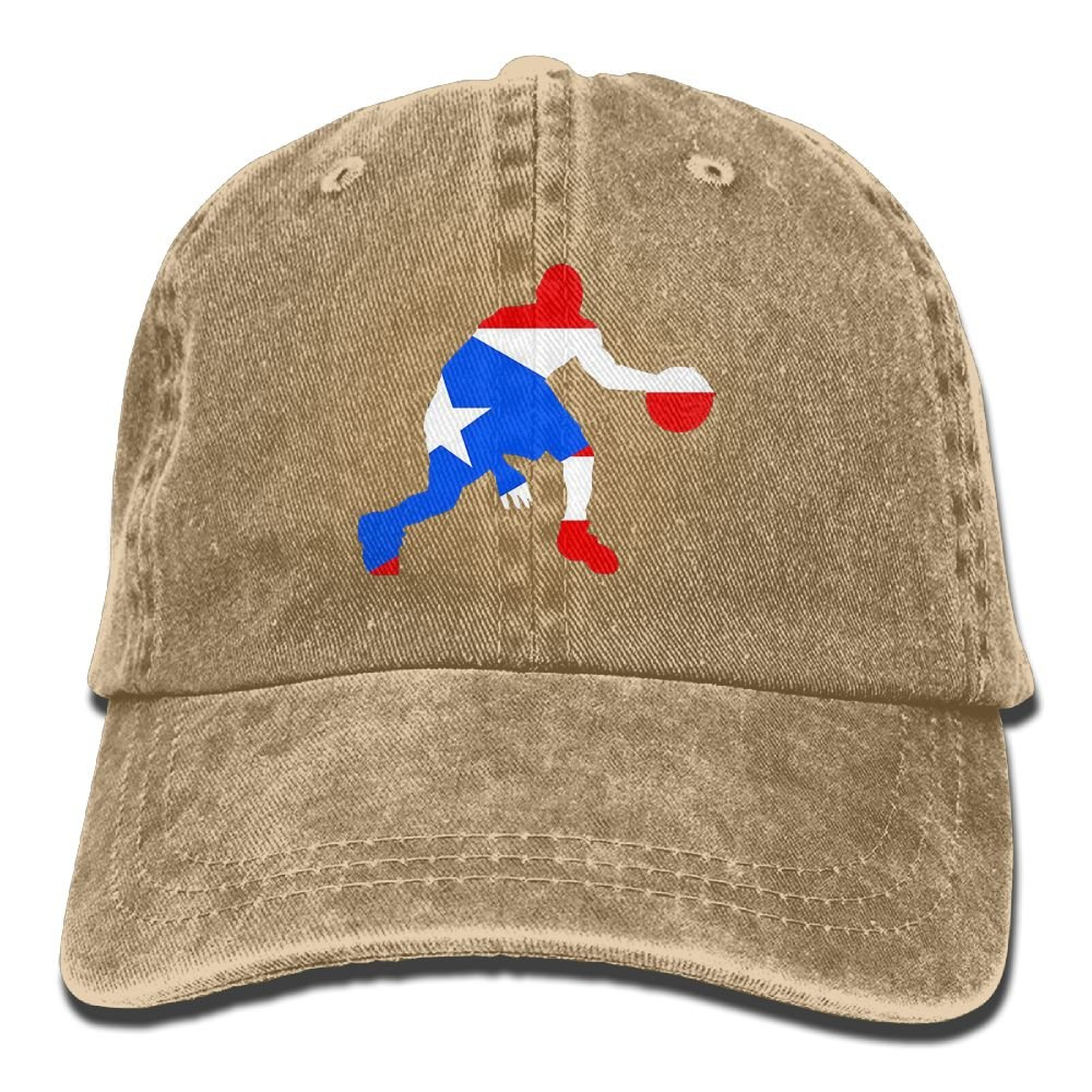 Puerto Rico Basketball Adult New Style COWBOY HAT