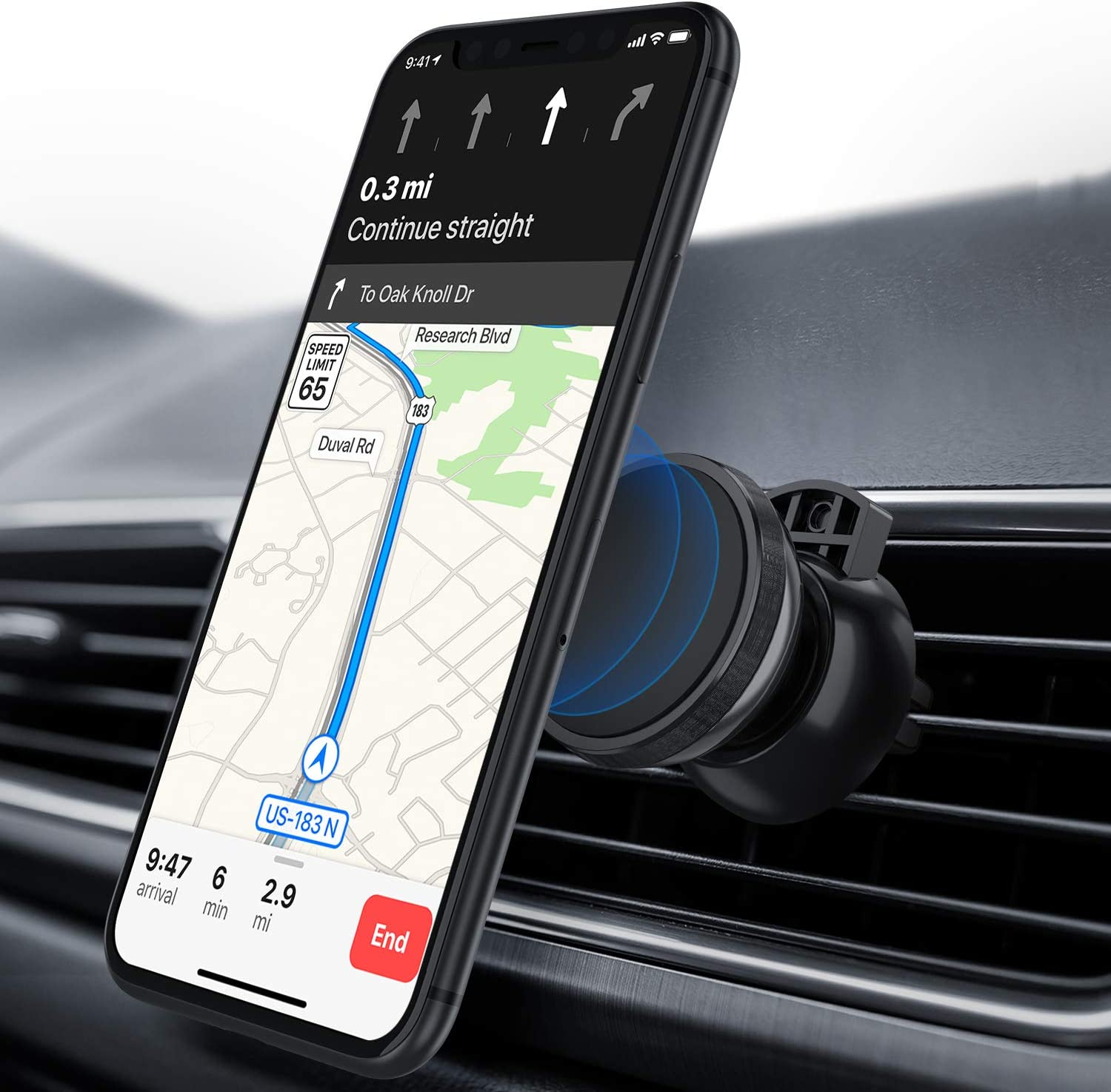 ORIbox Car Phone Mount, Dashboard Car Phone Holder, for iPhone, Samsung, and All Phone