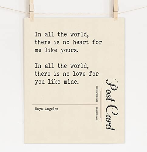 Amazon Maya Angelou Fine Art Love Quote Print On Cotton Paper Beauteous Love Quotes Maya Angelou